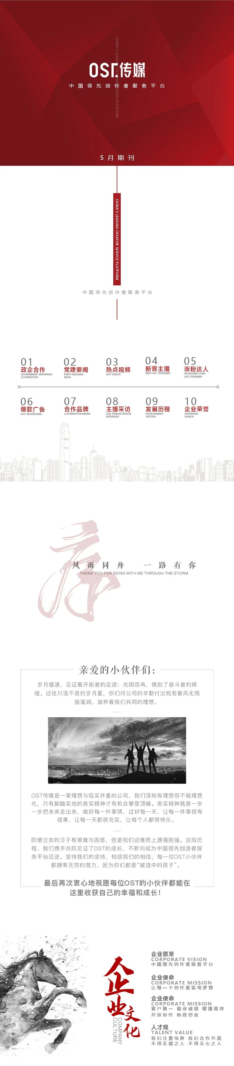 企业大事记 OST传媒5月大事记第1张